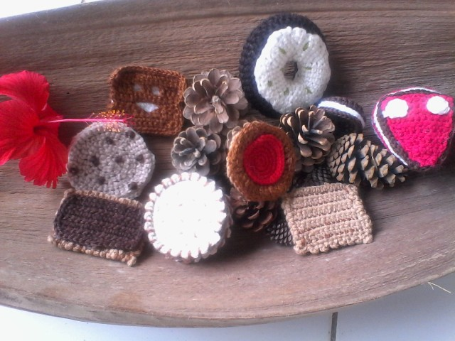 Biscuits en crochet- crochetfilet creation