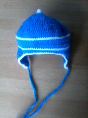 Bonnet pour bb en crochet