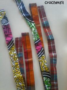 bande de tissu pour collier