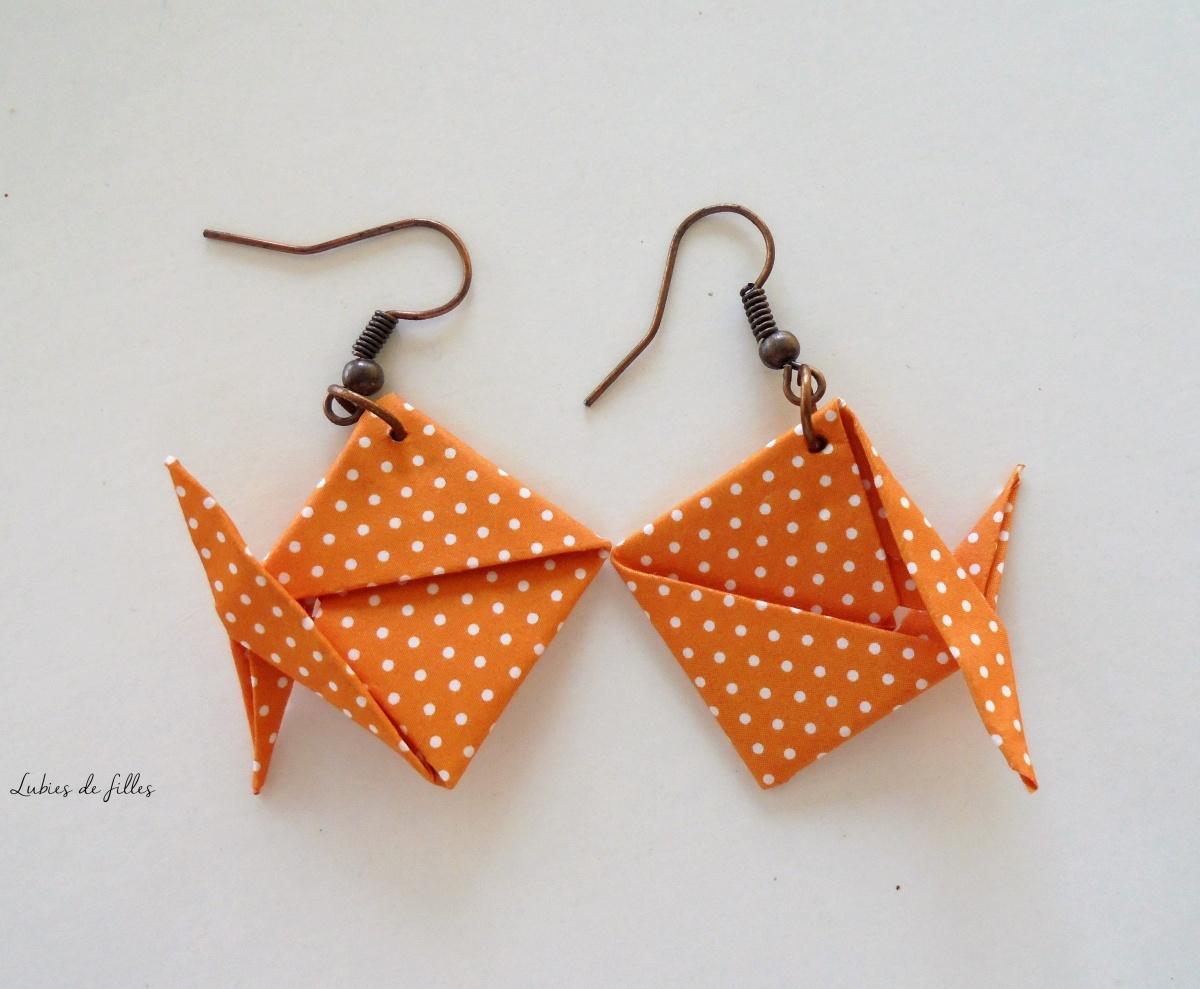 DIY Boucles d'oreilles et collier origami