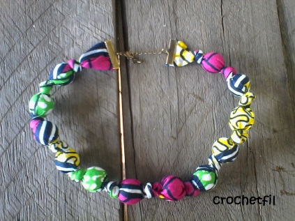 collier crochetfil