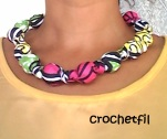collier tissus wax crochetfil