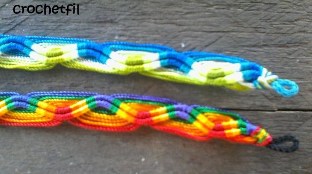 crochetfil bracelet brésilien