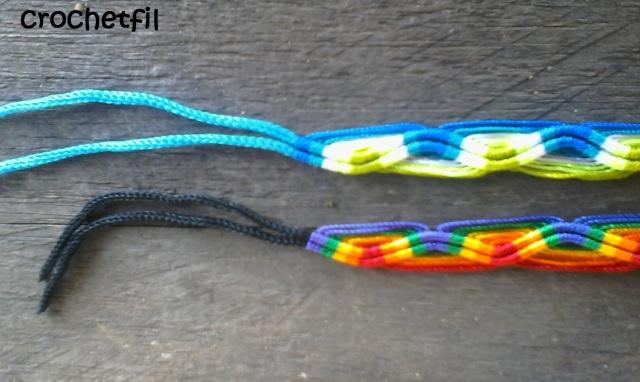 crochetfil bracelet fait main