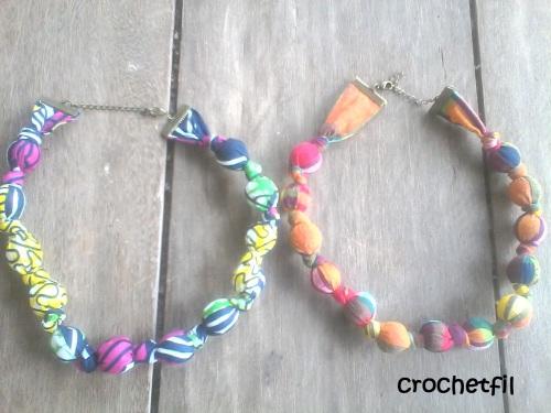 Les colliers en tissus 3