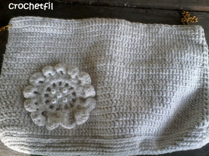 pochette trousse blanche crochetfil