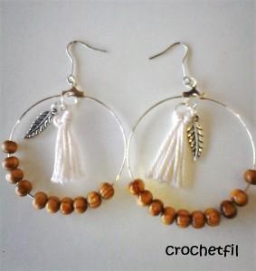 boucles d'oreilles perles et pompon lubies de filles1