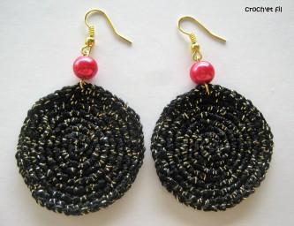 créole noires scintillantes 1