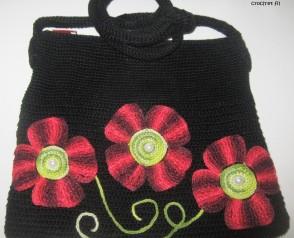 sac fleuri en crochet 3