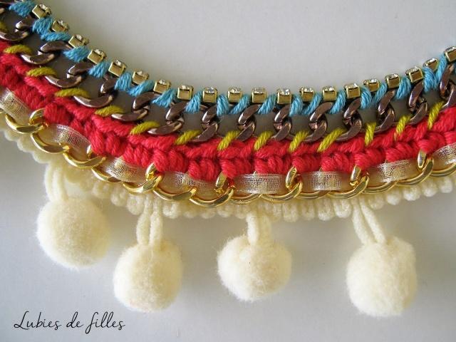 collier chaîne et pompon lubies de filles 6