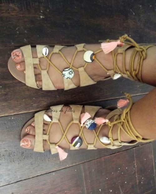 customiser ses sandales avec du wax lubies de filles 3