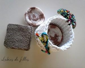 DIY disques et carrés démaquillants en coton lubies de filles 7