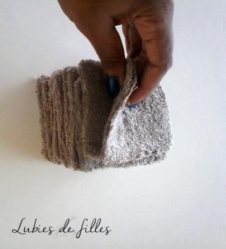 DIY disques et carrés démaquillants en coton lubies de filles 8