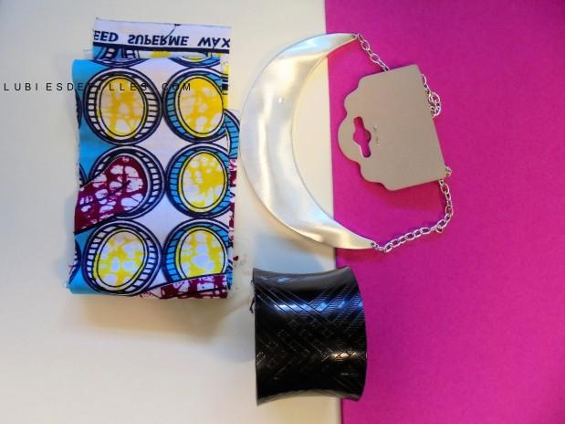 DIY collier plastron en wax lubies de filles