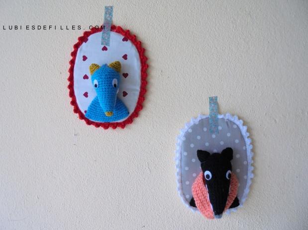 Portrait loup en crochet lubies de filles
