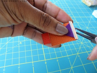 Boucles d'oreilles géométrique en cuir lubiesdefilles.com 03