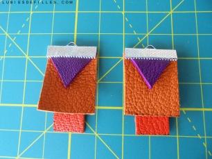 Boucles d'oreilles géométrique en cuir lubiesdefilles.com 04