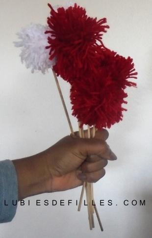 Bouquet de pompons lubiesdefilles 02