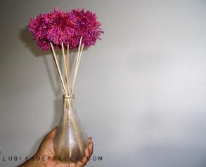 Bouquet de pompons lubiesdefilles 16