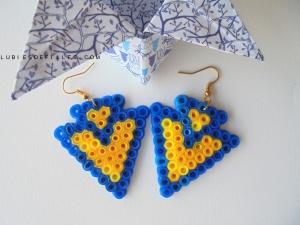 Boucles d'oreilles géométriques en perles à repasser-lubiesdefilles.com