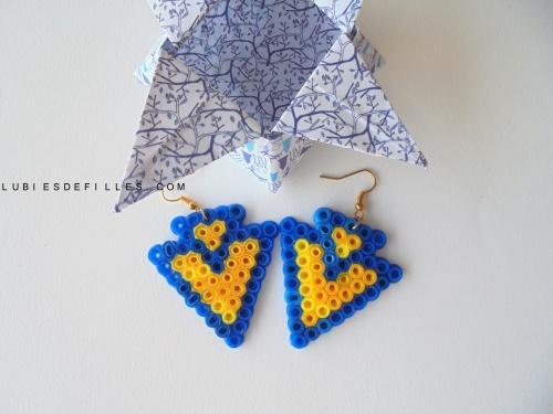 Boucles d'oreilles géométriques en perles à repasser-lubiesdefilles.com1