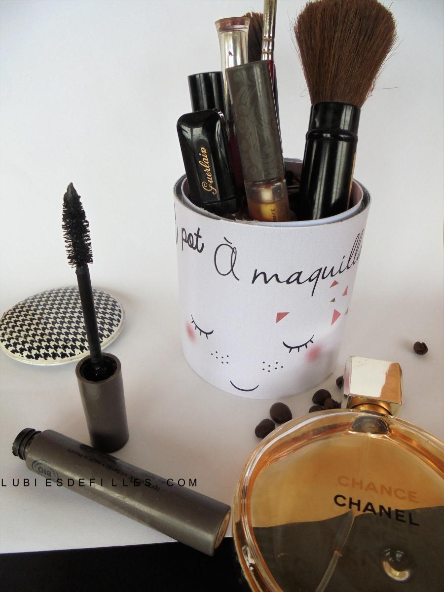 DIY cache pot de maquillage |Printable|