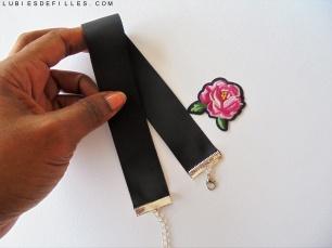DIY choker écusson fleur brodé-lubiesdefilles.com 03