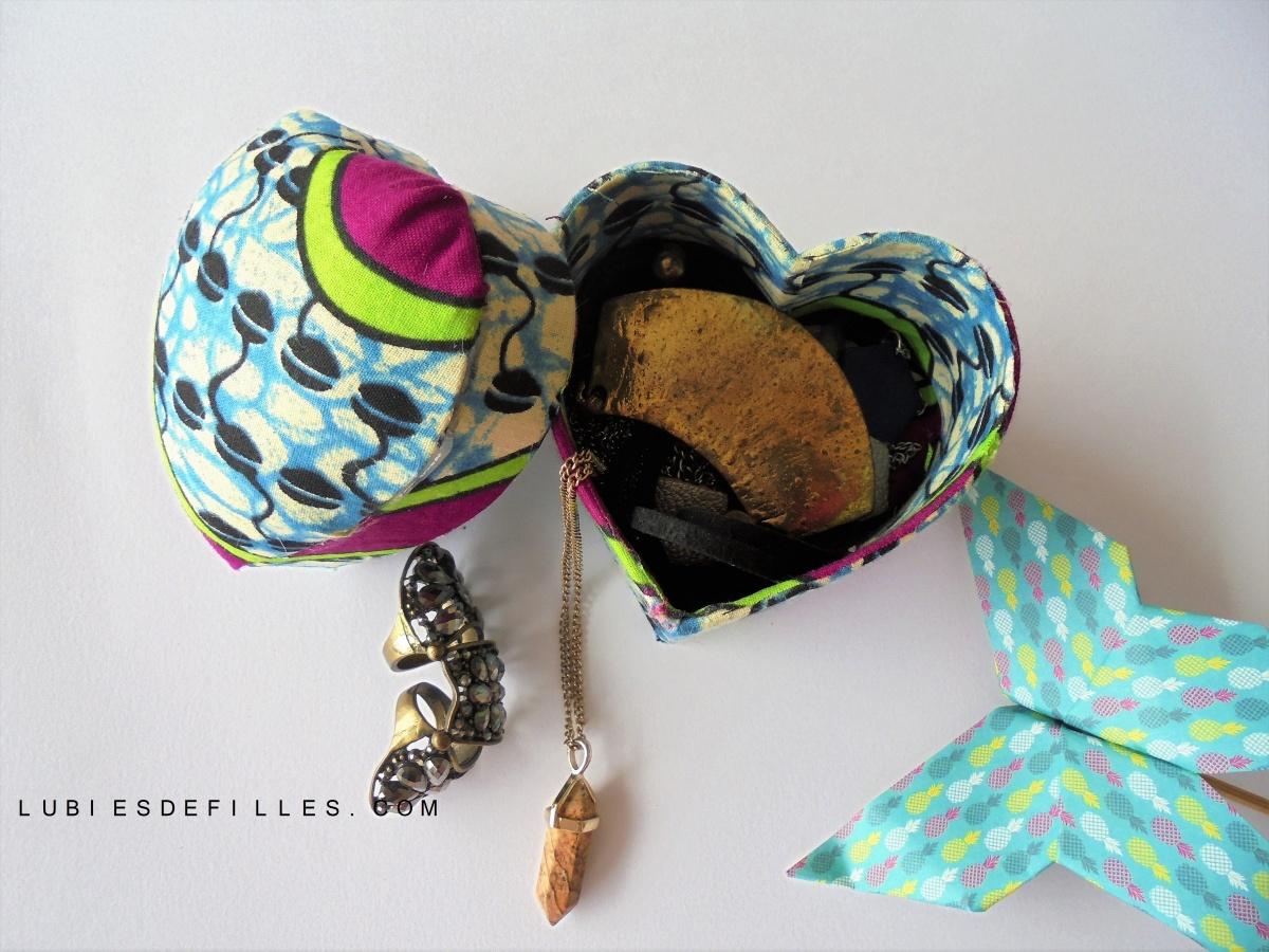 DIY customiser une boîte à bijoux Décopatch, avec du tissu wax |Concours|