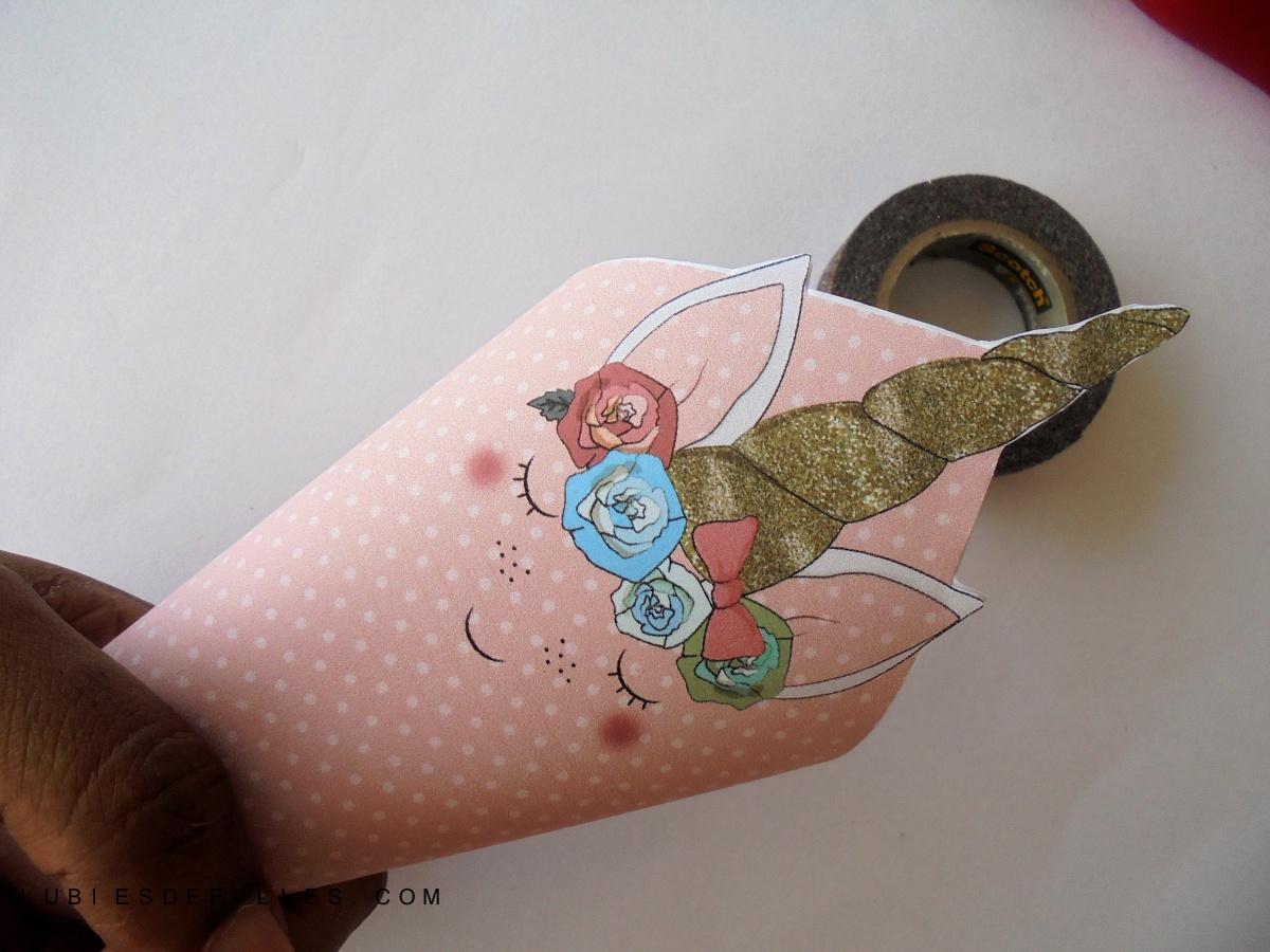 DIY cornet en papier, sur le thème des licornes |Printable|