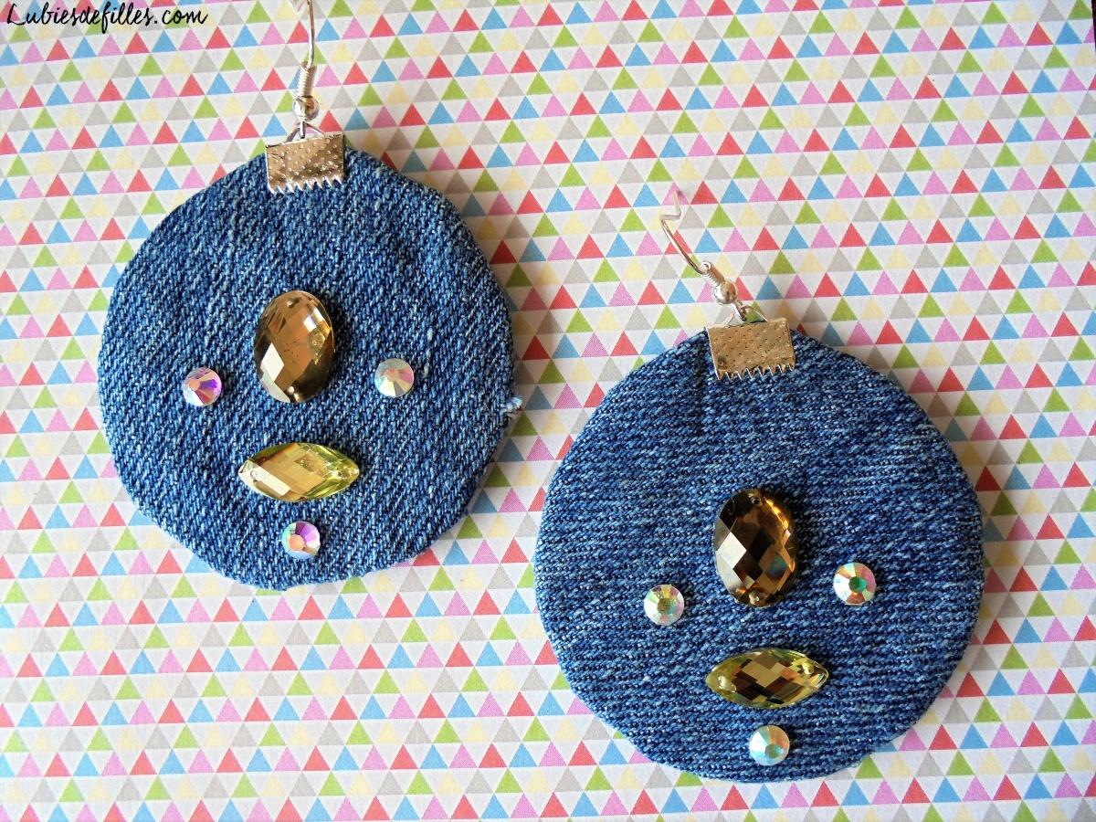 DIY boucles d'oreilles en blue jean |Recyclage|