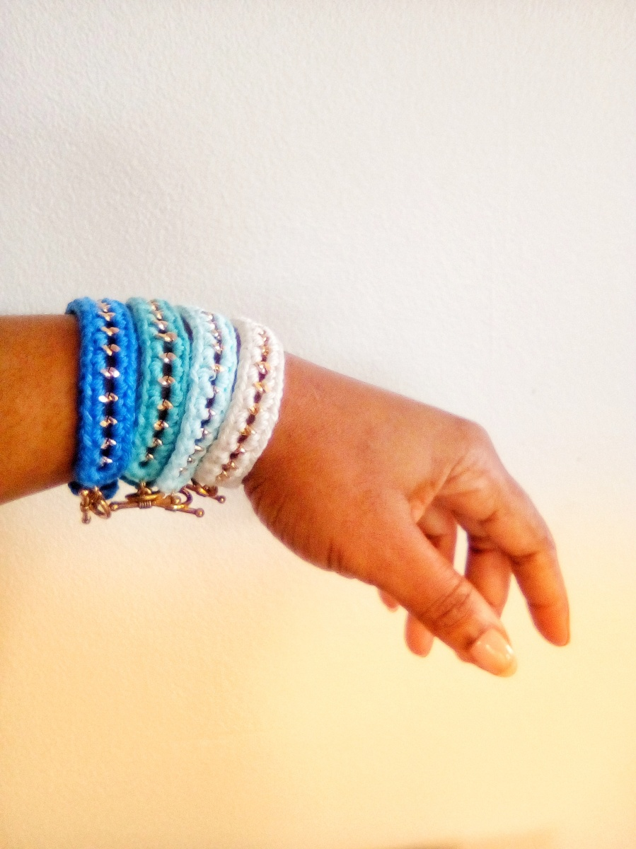 DIY (bracelet) bleu, blanc, rouge pour le SC and more n°439