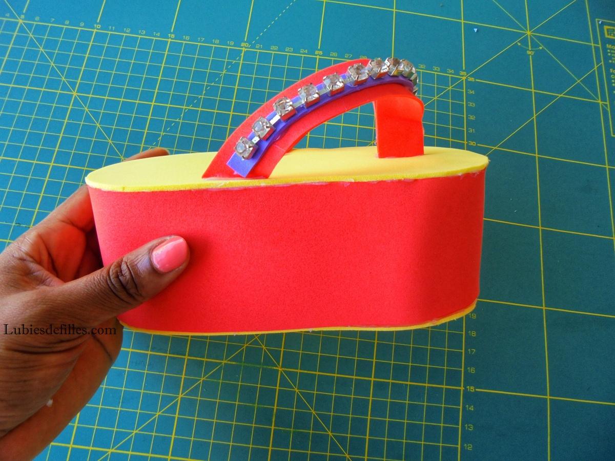DIY boîte en forme de savate tong |Printable|